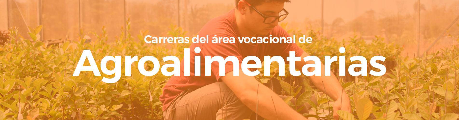 Carreras del área vocacional de Ciencias Agroalimentarias
